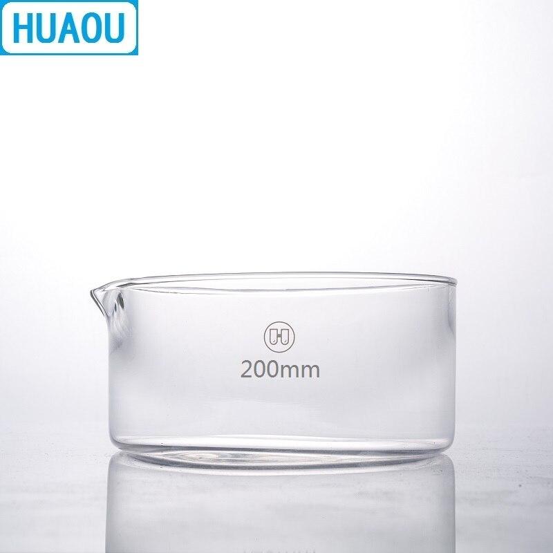 HUAOU 200mm Crystallizing Dish Borosilicate 3.3 Glass Laboratory Chemistry Equipment