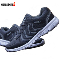 Male Mesh Breathable Lightweight Running Shoes Men S Shoes Lace Up Sport Sneakers Size 40 48