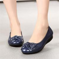 2018 Ladies Leather Shoes Women Summer New Fashion Flats Beach Bowknot Flat Shoes Female Summer Shoes