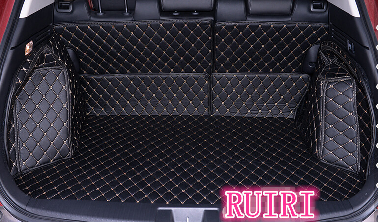 Best quality! Special car trunk mats for Honda HR-V 2018-2014 waterproof cargo liner mat boot carpets for HRV 2015,Free shipping