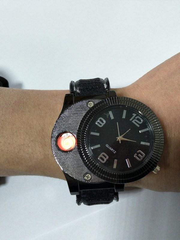 2018 Новые легкие часы Перезаряжаемые USB Повседневная электронные часы Для мужчин кварцевые часы Мода Беспламенного Авто-прикуриватели f669