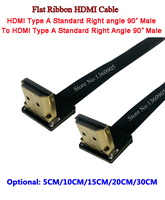 Best 20C 7 8 HDMI Cable Flat Ribbon Type A Male Up Angle To Down Angle