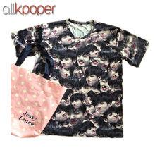 f5ec4c2763 ALLKPOPER Kpop BTS Jung Kook Tshirt Face Print Tee Bangtan Boys Merchandise  T-shirt Unisex Fashion 2017 New Summer Tops Blusas