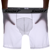 Ice silk long plus 3D high flexible 6XL bokserki meskie style Men thin boxer pants underwears quick drying cool 1110 tight sport