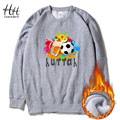 HanHent Fashion Trend Brand Sportswear Sweatshirt Thicken Men Fleece Pullover Round Collar Streetwear Design Hoodies Boys AD0743