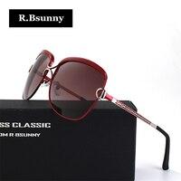 Lüks marka metal Büyük çerçeve kadın güneş gözlüğü HD polarize lens klasik retro güneş gözlükleri sürüş gözlük UV400