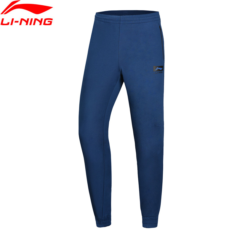 Li-Ning Men CBA Basketball Sweat Pants 74% Cotton 26% Polyester Regular Fit LiNing Li Ning Comfort Sport Trousers AKLN341 MKY407