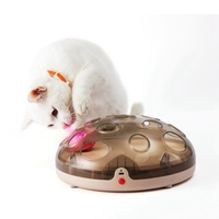 USB Rechargeable Cats Toys Interactive Plate Feather Toy Cat 16 Holes Turntable Automatic Scratch Board Toys For A Cat