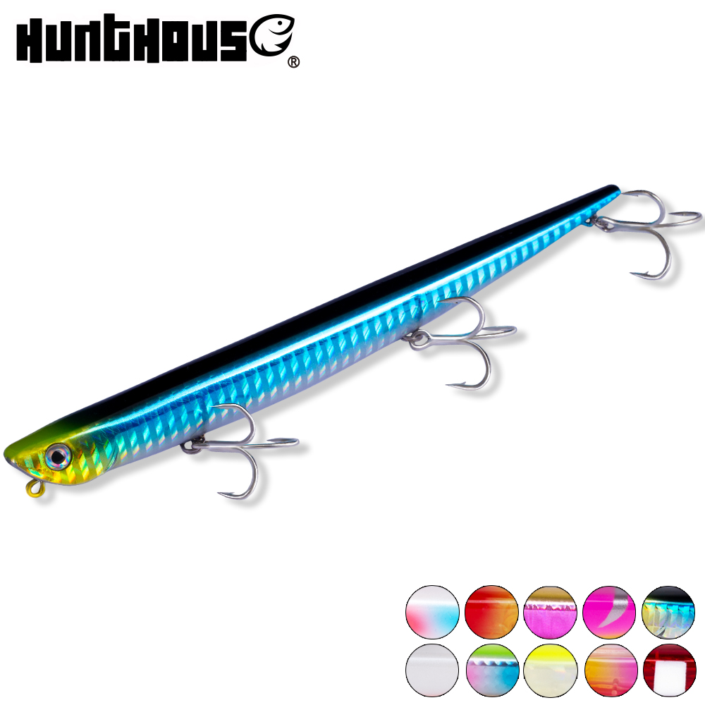 Hunthouse bay ruf manic fishing lure pencil bait sinking 99mm 18.5g 155mm 31.5g origin hook for sea bass bluefish perch