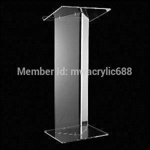 Бесплатная Доставка Горячей Продажи Делюкс Красивый Современный Дизайн Дешевые Прозрачный Акриловый Трибуна подиум