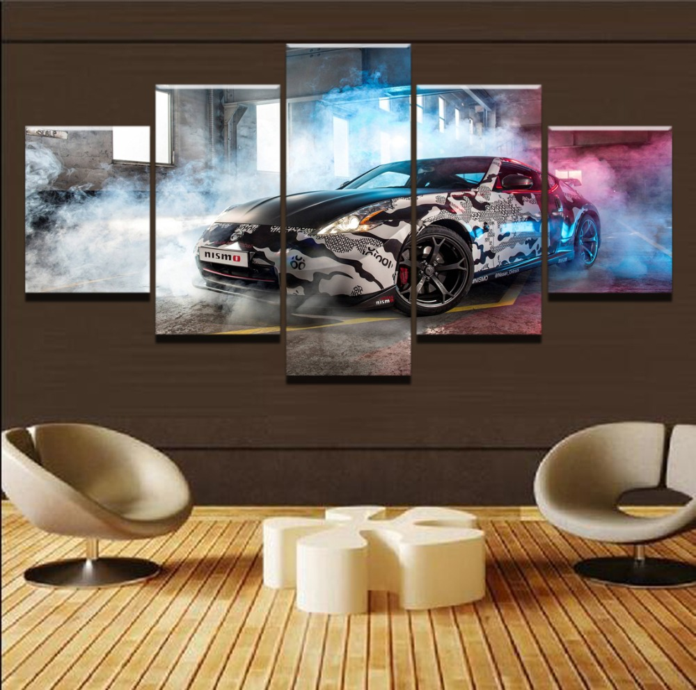 Cool Sports Car HD Print Painting 5 Piece Canvas Art Modern Decor painting on canvas poster Room