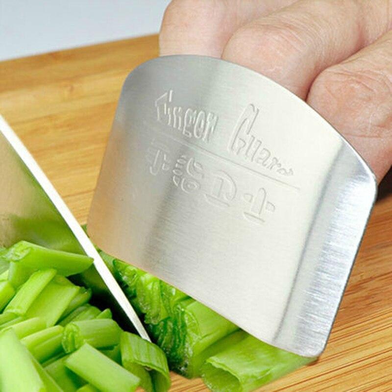 Кухонные аксессуары из нержавеющей стали, защита для овощей, защита для пальцев, гаджеты для личной безопасности рук, легко режущая кухонна...