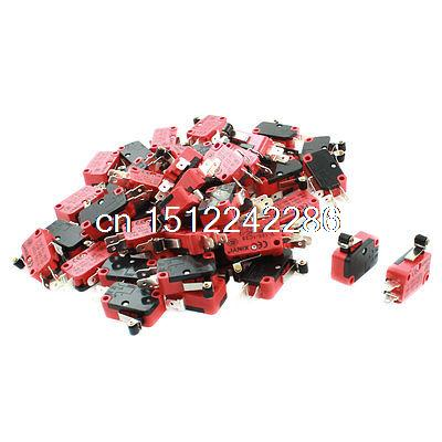 50 Pcs V-155-1C25 Micro Limit Switch Short Roller Lever Arm SPDT Snap Action LOT 100pcs v 152 1c25 straight hinge lever ac dc micro switch