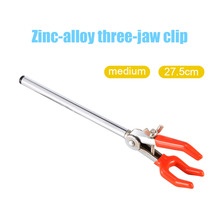 New arrival Single Adjustment Three Prong Extension Flask Clip Clamp Zinc Alloy Material Chemistry Lab Clip Clamp for Stand