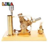 LBLA Hot Air Stirling двигатель модель образовательная игрушка комплект деревянная база ж светодио дный светодиодный свет обучающая Наука игрушка п
