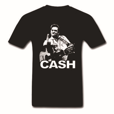 Flashion Johnny Cash J R printed men t shirt 100% Cotton Short Sleeve man Top Tee US standard plus size s-3xl factory outlet