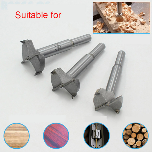 15mm-48mm Forstner Carbon Steel Boring Drill Bits Woodworking Self Centering Hole Saw Tungsten Carbide Wood Cutter Tools Set