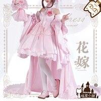 Anime Boku no Hero Academia OCHACO URARAKA Flowers Wedding Lolita Dress Cosplay Costume For Women Halloween Free Shipping 2019 .