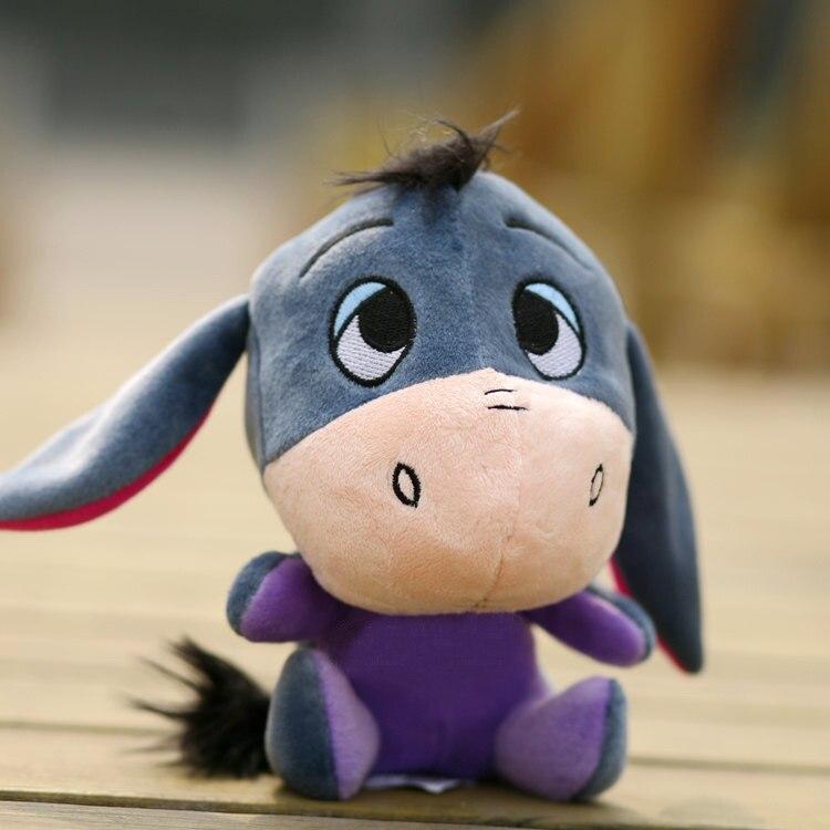 Free shipping 1pcs 25cm=9.8'' Donkey Eeyore Q version soft plush stuffed animal toys dolls Christmas birthday gifts for baby