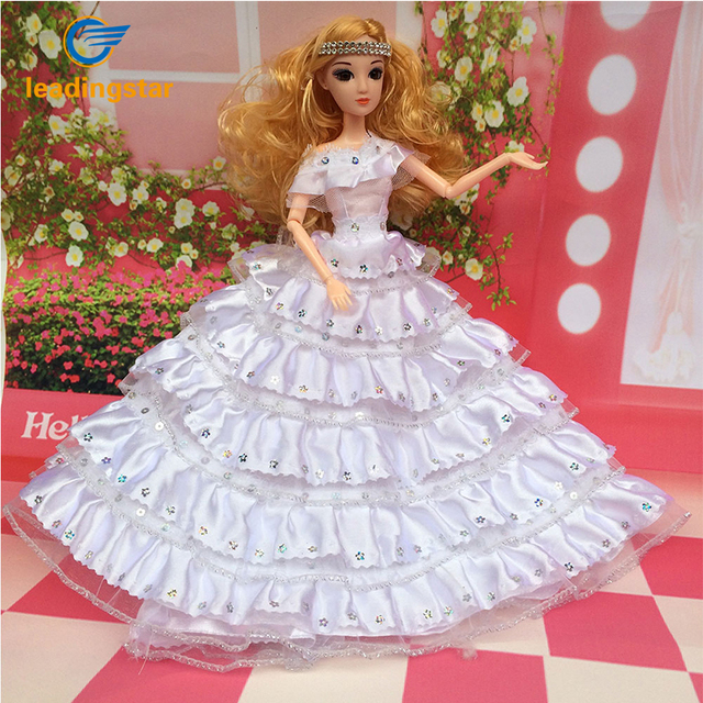 Leadingstar Gorgeous Barbie Doll Wedding Multi layer Sequined Bridal ...