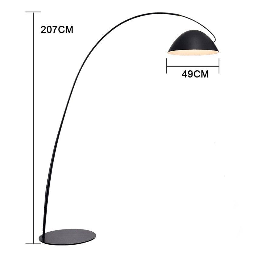 Italienischen designer LOFT LED Boden lichter leuchte led lampen tinte stift moderne wohnzimmer ausstellung halle angeln boden lampe - 2