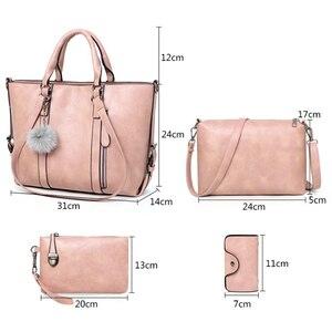 Image 5 - ZMQN 여성 핸드백 지갑과 핸드백 세트 여성용 크로스 바디 가방 2020 가죽 가방 여성 핸드백 유명 브랜드 C679