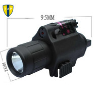 2in1 Hunting Tactical CREE LED Flashlight LIGHT Red Dot Laser Sight Combo For Shotgun Glock 17