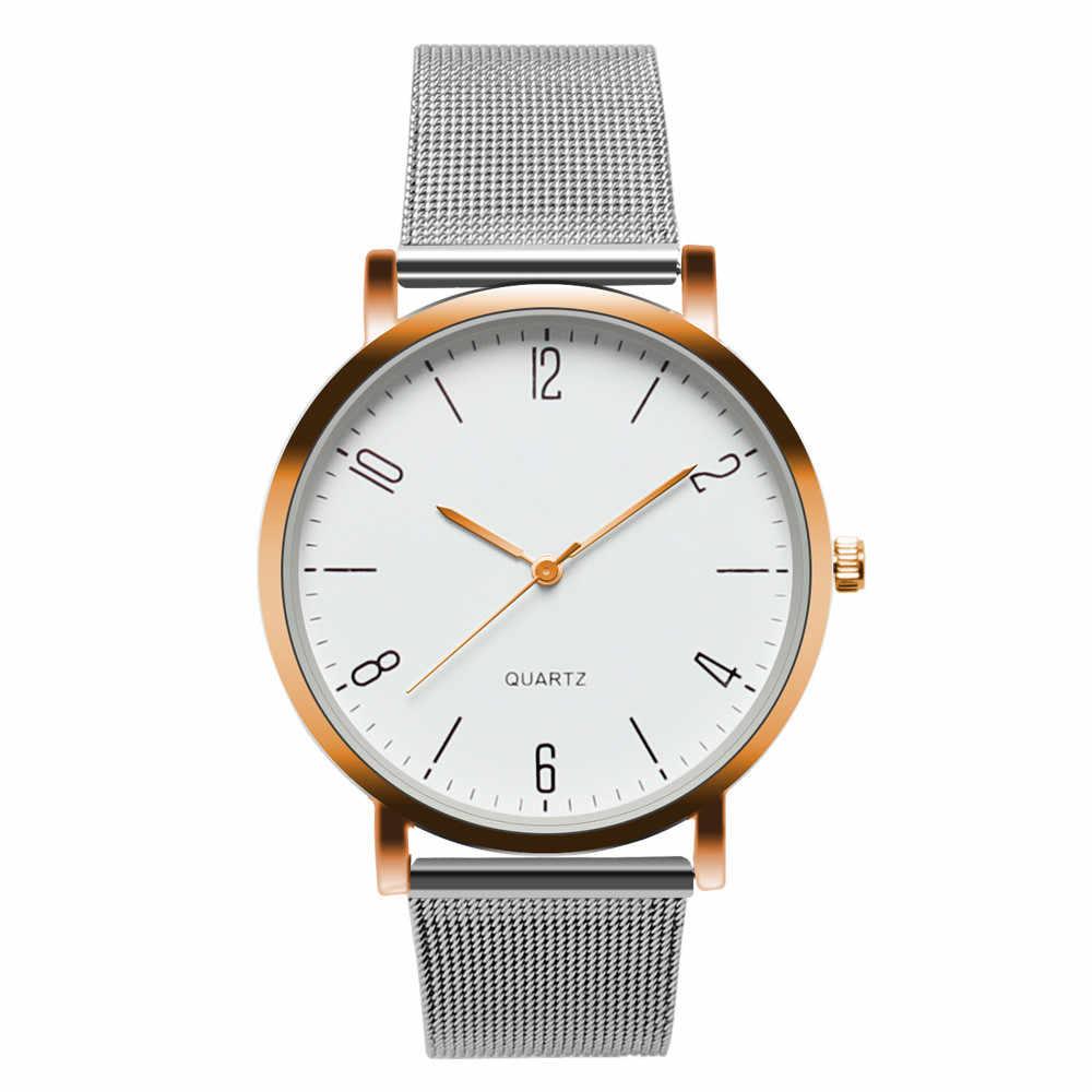 Nova moda senhoras relógio analógico de aço inoxidável pulseira de relógio analógico relógios femininos simples dial relogio feminino 40x
