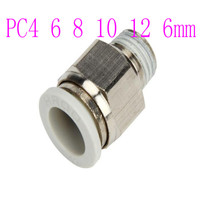 цена на Pneumatic components High quality pneumatic joints White series thread straight through PC10 12 16 mm
