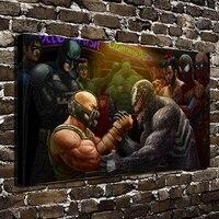 A2781 Cartoons Batman Spider Man Hulk Comics HD Canvas Print Home Decoration Living Room Bedroom Wall