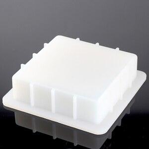 Image 3 - Molde cuadrado de silicona para jabón hecho a mano, molde de jabón de pan blanco, herramientas de fabricación de jabón