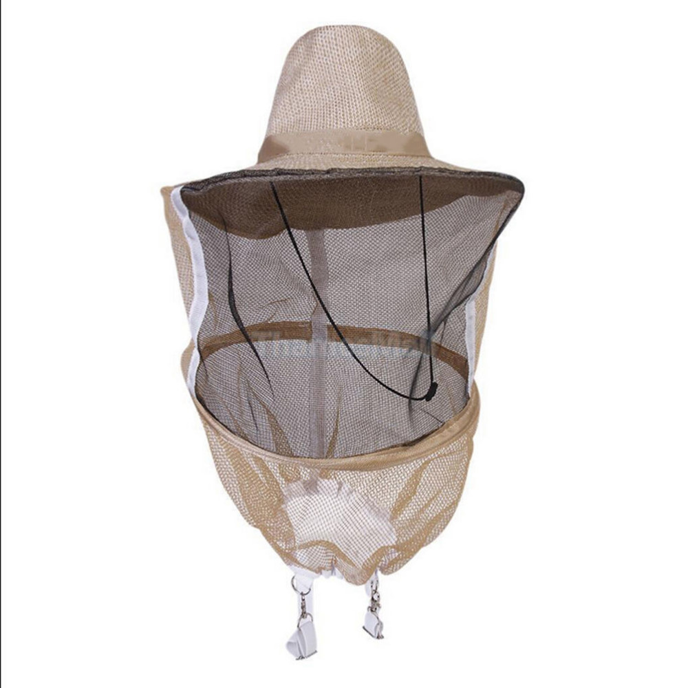 1pcs Fishermen Clothing Beekeeping Hat Face Protector Bee Protective Cap Insect Mesh Mask Net Apparel Accessories