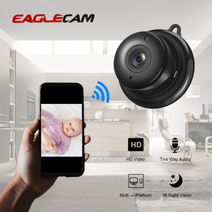 Image 1 - Full HD 1080P Mini Wireless WIFI Smallest  IP Camera Infrared Night Vision P2P Mini Cam Camcorders Kits Dome Home Security CCTV