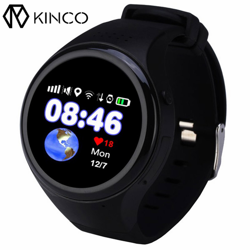 KINCO Smart Children Watch 1.22 inch Call WIFI GPS LBS Location Anti-Lost Bluetooth SOS Smart Watch Phone for IOS/Android kinco wifi intelligent visible