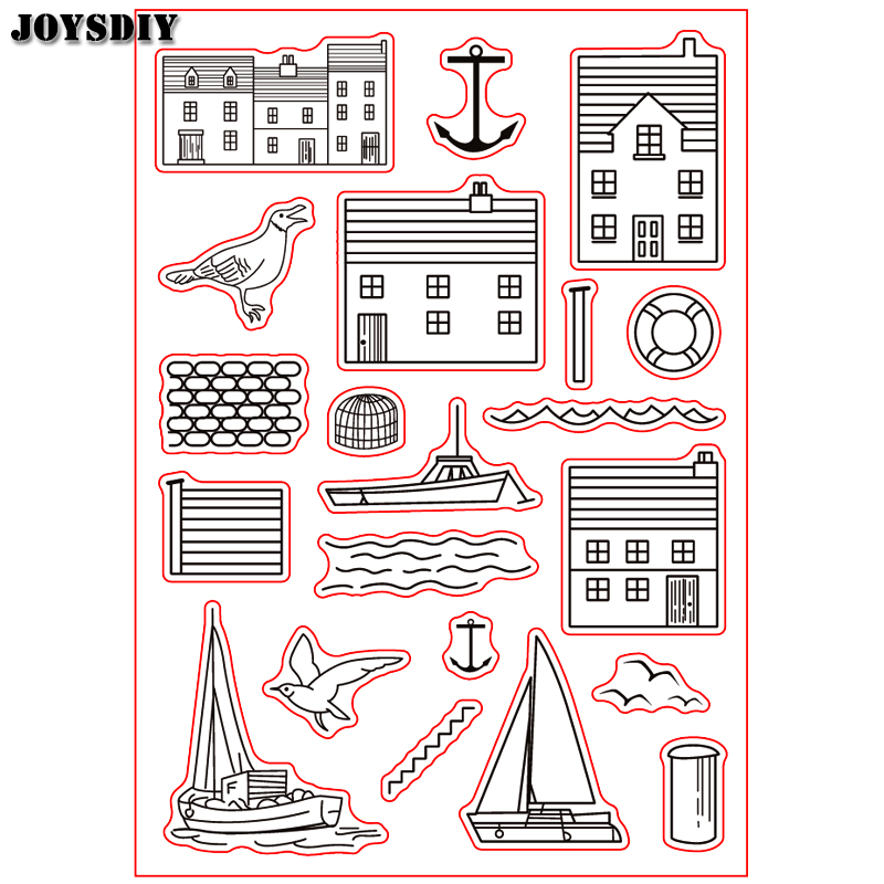 ISLAND HOME BIRD SHIP ANCHOR  Scrapbook DIY photo cards account rubber stamp clear stamp transparent stamp Handmade card stamp scrapbook diy photo cards account rubber stamp clear stamp finished transparent chapter wall decoration 15 18