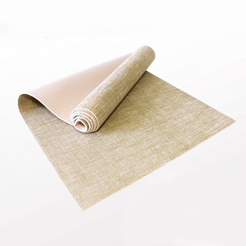 free sale thickness shipping pvc sports yoga natural from mat linen material jute hot item in mats organic nature