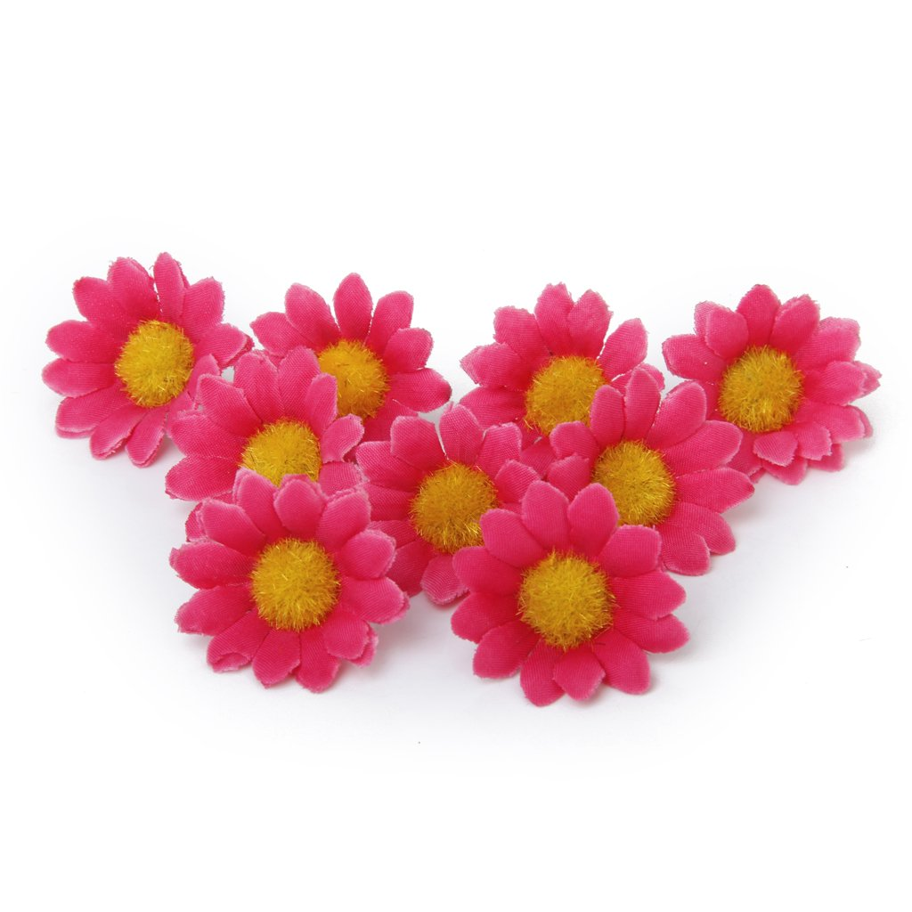 Red daisy flower promotion shop for promotional red daisy flower bouh 100pcs artificial daisy flowers heads for wedding party rose red dhlflorist Gallery