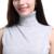 Sparsil Mezcla Suéter de Cachemira de Cuello Alto Sin Mangas Del Chaleco de Las Mujeres Frente de Split Vestido Corto Moda Jerseys Prendas de Punto Suave A48