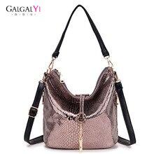 2018 New Vintage Women Shoulder Handbag Bags for Female Messenger Bag Serpentine Snake Versatile Mobile