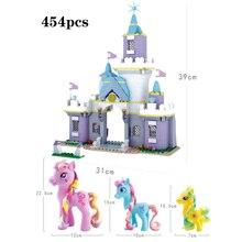 цена 2019 Girl Princess Building Blocks Model My Little Horse Castle Unicorn Figure Compatible legoerg Friend Brick Toy Children Gift онлайн в 2017 году