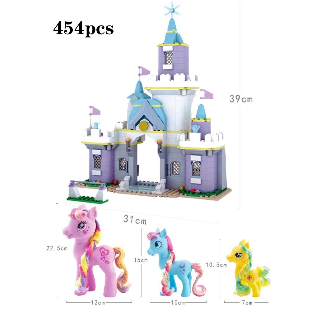 2019 fille princesse blocs de construction modèle mon petit cheval château licorne Figure Compatible legoerg ami brique jouet enfants cadeau