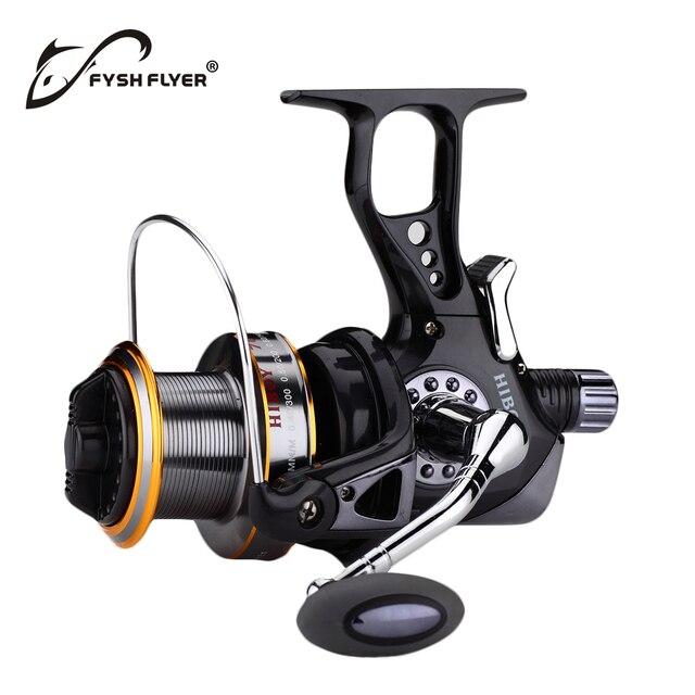 Surfcasting Fishing Reel: Infinite Anti-Reverse Structure, Fishing Spinning Carp Reel, J3FR, Black,10+1BB,1 Spare Plastic Spool