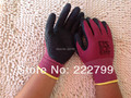 Износостойкие нефтепродуктов висит Пропитать клеем, износостойкости не скользит резиновые Защитные страховые труда перчатки Безопасности перчатки