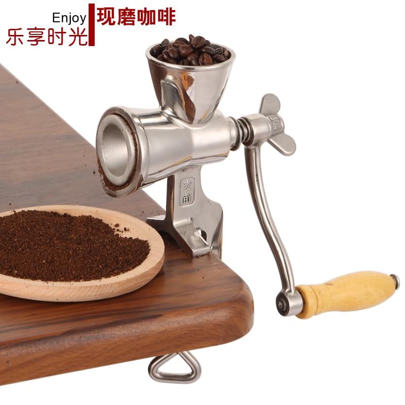 цена на Manual 304 stainless steel grinding machine interesting household hand grinding coffee beans grain