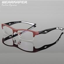 WEARKAPER TR90 Men Women Myopia Eyeglasses Fashion Frame eye glasses Optical Glasses crosslink oculos de grau men