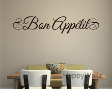 Bon Appetite Family Quote Wall Sticker DIY Dining Room Decal Decorative Home Quotes Vinyl Art Q107