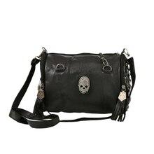 JHD-стильная женская сумка с черепом, заклепками, конвертом, мини-клатч, дамская сумка-тоут, Ретро панк, сумки через плечо для женщин