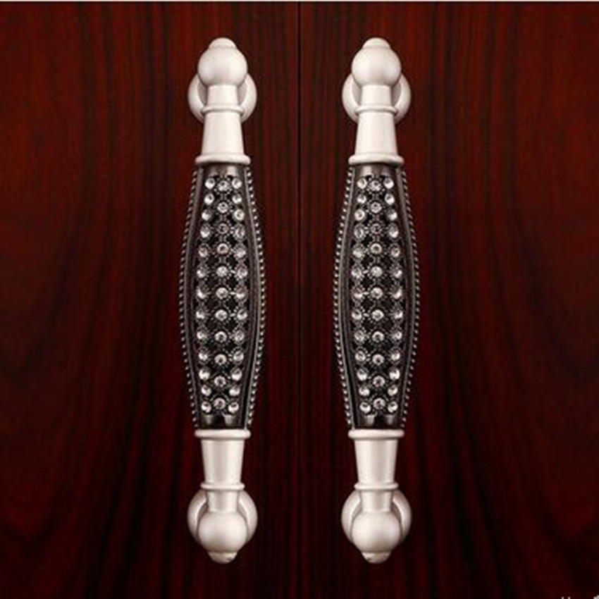 128mm silver black glass diamond high quality furniture decoration handles 5 clear crystal cabinet wardrobe dresser door pull карабин black diamond black diamond rocklock twistlock