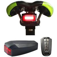 Giantree Bike Bicycle Tail Rear Light Wireless Remote Control Anti Theft Alarm Security