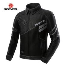 SCOYCO Мотоцикл Куртка JK36C Дышащая Chaqueta Jaqueta Moto Motoqueiro Защитный Gears Мужчины Женская Одежда Giacca Блузон